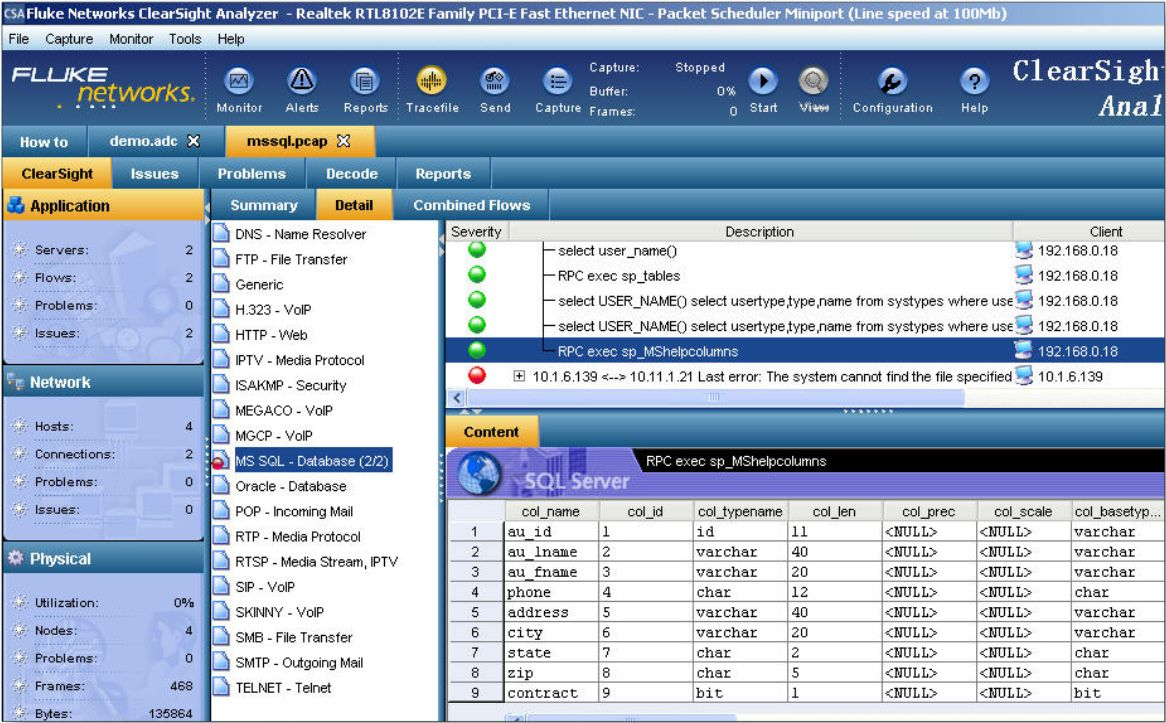 Wireshark или Fluke